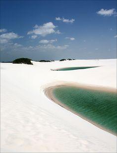 Lençóis Maranhenses National Park, Brazil #patternpod #travel #beautifulplaces #photography