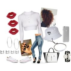 Kisses to the Haters ;* by exotic-christine on Polyvore featuring Converse, Lulu Guinness, Maison Margiela, Michael Kors, maurices, Case-Mate and Stussy