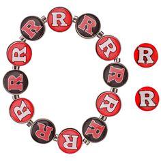 Rutgers Scarlet Knights Women's Post Earrings and Stretch Bracelet Set - $15.99