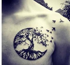 In tattoo art, a tree symbolizes life-and every part has a deep meaning. The…