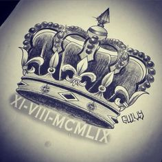 For Adalynn with her birth date in Roman numerals