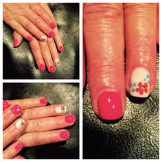 Spring shellac manicure
