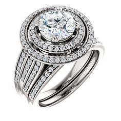 1.5 Ct Round Diamond Engagement Ring 14k White Gold – Goldia.com