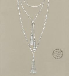 The freshwater cultured pearls in this necklace from Tiffany's The Great Gatsby Collection were precisely matched for size, color and luster.