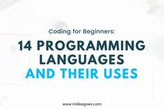 Not sure which programming language to learn? Find out more in this post with 14 different programming languages explained for beginners. List Of Programming Languages, Coding Languages, Learn Programming, Computer Programming, Computer Science, Learn Computer Coding, Coding For Beginners, Coding Software, Tumblr Relationship