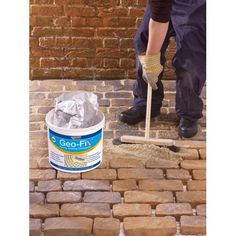 Geo-Fix dry brush-in jointing compound from Arcon Supplies