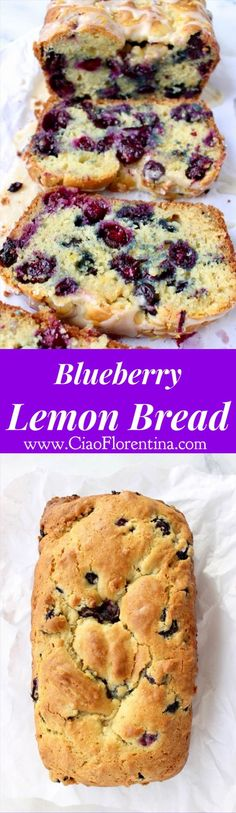 Blueberry Lemon Bread | CiaoFlorentina.com @CiaoFlorentina