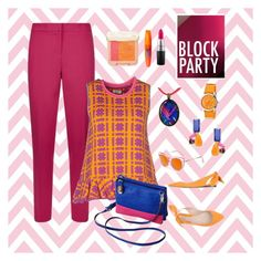 """Block Party"" by laineys on Polyvore featuring MICHAEL Michael Kors, Issa, Carven, Trina Turk, TravelSmith, NOVICA, Crayo, Paul & Joe Beaute, Rimmel and MAC Cosmetics"