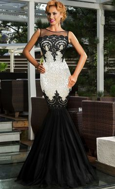 $59.99 Sequin Applique Evening Party Mermaid Dress