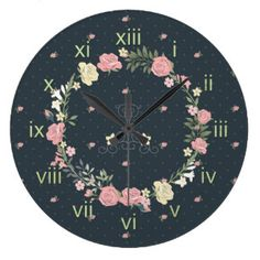 Ring of Roses Vintage Style Wall Clocks