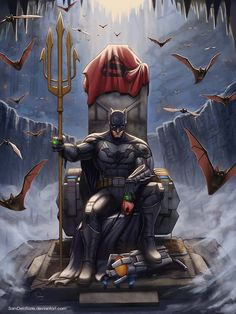 Another awesome pic from DC Comics Sir Batman. - Batman Canvas Art - Trending Batman Canvas Art - Another awesome pic from DC Comics Sir Batman. Poster Superman, Posters Batman, Poster Marvel, Batman Artwork, Batman Painting, Batman Comic Art, Marvel Dc Comics, Dc Comics Art, Joker Batman