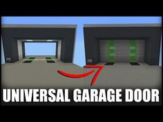 In this video, I show how to build my Universal Garage Door Piston Door) in Minecraft. By Universal, I mean that it works in EVERY version of Minecraf. Minecraft Redstone Creations, Easy Minecraft Houses, Minecraft Banners, Mine Minecraft, Minecraft Modern, Minecraft Plans, Minecraft Room, Amazing Minecraft, Minecraft Decorations