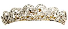 """The Spencer Tiara. Princess Diana wore the Spencer Tiara as her """"something borrowed"""" on her wedding day in 1981.Composite of elements and not an heirloom as has been previously suggested. The central element was a gift from Lady Sarah Spencer to Cynthia, Viscountess Althorpe as a wedding present in 1919. Four other elements were made to match it in 1937. Only the two elements at the end are old and are said to have come from a tiara owned by Francis, Viscountess Montagu and left to Lady…"""