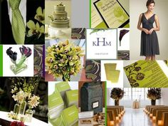 The Perfect Palette: {Simplicity + Sweetness}: Chartreuse, Plum & Slate Gray // With pops of orange instead of gray?