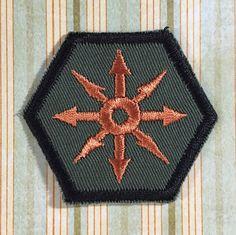 STEAMPUNK Merit Badge  Chaos Star Steampunk by TrippingBalls