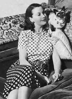 Actress Vivien Leigh From the LIFE Magazine spread at home with Laurence Olivier by Hans Wild, 1946