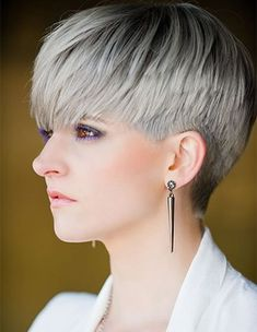 Silver Dark Shades Color Ideas for Short Hairstyles 2018