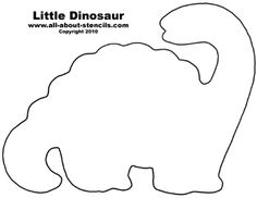 Dinosaur Cut Outs Printables   Free Dinosaur Stencil Designs for Nursery Decorations and Serious Fun