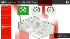 Windows Phone, Tablet & PC Home Automation Concept - HVAC System screen