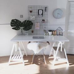 Trendy Home Office Decor Black And White Bedrooms Black Bedroom Furniture, Furniture Decor, Furniture Design, Bedroom Decor, Bedroom Black, Home Office Design, Home Office Decor, Diy Home Decor, White Craft Room
