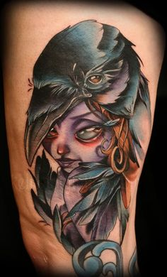 raven-lady-tattoo-kelly-doty-020912.jpg 450×744 pixels