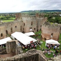 Ludlow Food Festivals in May & September where we look after both demo stages