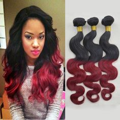Find More Hair Weaves Information about Is Bella 6A Grade Wavy Brazillian Virgin Hair 3 Bundles Lot Human Weave Body Wave Ombre Black and Burgundy Brazilian Hair,High Quality hair hair tie,China hair fitness Suppliers, Cheap hair form from IS Bella Human Virgin Hair Products Co. on Aliexpress.com