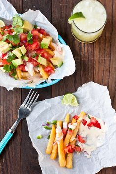 Loaded Chile con Queso Fries