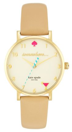 Always ready to celebrate happy hour with this adorable Kate Spade watch.