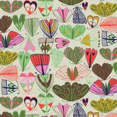 print & pattern, Print designed by Sarah Papworth Motifs Textiles, Textile Patterns, Textile Prints, Textile Design, Fabric Design, Surface Pattern Design, Pattern Art, Motifs Roses, Art Graphique