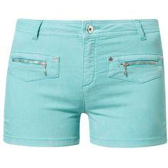 ChillNorway BONAPARTE Denim shorts ($41) ❤ liked on Polyvore featuring shorts, bottoms, blue, denim short shorts, blue jean short shorts, jean shorts, denim shorts and pocket shorts