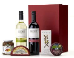 The Cheese Course gift hamper makes a lovely gift to finish any meal.especially at Christmas time. With cheese and chutney with crackers to put them on, and wine to wash it all down.what a great gift for family, friends and colleagues. Cheese And Wine Hampers, Food Hampers, Wine Cheese, Gift Hampers, Christmas Hamper, Fine Wine, Yummy Snacks, Chutney, Gifts For Family