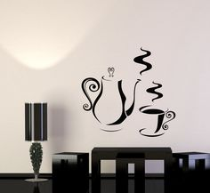 Vinyl Decal Kitchen Coffee Shop Tea Time Party Wall Sticker Mural (008ig)