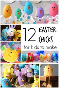 12 Adorable Easter Chick Crafts for Kids to Make - Happy Hooligans