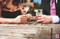 Drinks at the InterContinental Stephen F. Austin Hotel.  Charla+Mark: The Biology of a UT Romance | Austin Wedding Photographer Kelly Cameron » Kelly Cameron