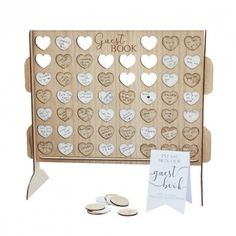 Wedding Reception Decorations, Baby Shower Decorations, Tent Decorations, Wedding Supplies, Party Supplies, Wooden Wedding Guest Book, Book And Frame, Wedding Messages, Gold Book