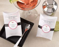 """""""Cosmopolitan"""" Drink Mix (Set of 6) (Available Personalized) Original Unit Price: As low as $2.17 Sale Price: $1.84 (15% off)"""