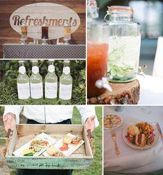 Floral Arrangements Inspired Boho Theme Wedding Ideas and Wedding Invitations |