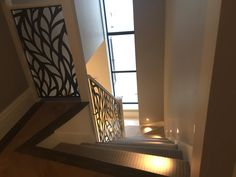 Laser cut balustrade infill - Regents Park London - Frond design by Miles and Lincoln. www.milesandlincoln.com
