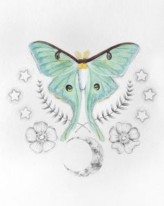 2eb45b859 43 Best Luna Moth Tattoo images | Luna moth tattoo, Awesome tattoos ...