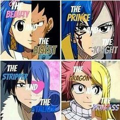 So cute (Beaty/Beast, Prince/Knight, Dragon/Princess) then the stripper and the stalker. Haha!