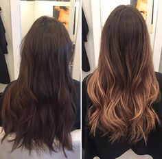 Ombré hair color #ombre #caramel #haircolor @hairbyjane