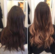 Ombré hair color #ombre #caramel #haircolor @hairbyjane