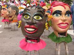 Paper Mache Head CABEZAS DE CARNAVAL DEL DESFILE DE COMPARSAS 2006  http://www.squidoo.com/paper-mache-ideas