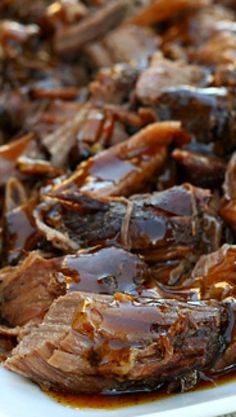 Balsamic Glazed Roast Beef Recipe ~  Leftovers (if you have any) make for some fabulous sandwiches.