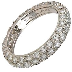 dbf521299 View this item and discover similar engagement rings for sale at - The 3  row diamond Tiffany 'Etoile' band has Carats of G-VS diamonds set in  platinum.