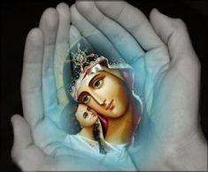 φεστὼς τῆς ἀθλίας μου ψυχῆς καὶ Jesus Mother, Blessed Mother Mary, Blessed Virgin Mary, Religious Images, Religious Icons, Religious Art, Real Image Of Jesus, Church Icon, Orthodox Icons