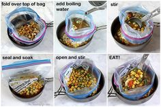 Just add boiling water for 8 instant, nutritious soups that are perfect for backpacking, camping, dorms, office, travel, and emergencies. A better, homemade, DIY cup-a-soup. From TheYummyLife.com Dehydrated Backpacking Meals, Backpacking Food, Ultralight Backpacking, Dry Soup Mix, Soup Mixes, Frugal Meals, Freezer Meals, Hiking Food, Hiking Tips