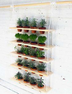 DIY stylish hanging garden - 10 DIY Vertical Gardens | Tinyme Blog
