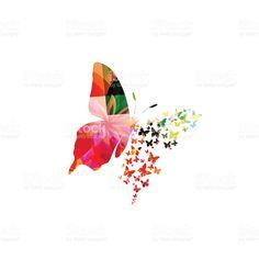 Diseño colorido mariposa illustracion libre de derechos libre de derechos
